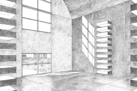 Concrete_buildings_interior_drawing
